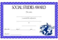 Social Studies Certificate Template 3