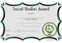 Social Studies Certificate Template 4