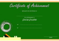 Social Studies Certificate Template 9