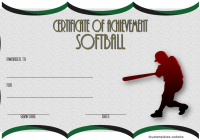 Softball Achievement Certificate Template 2