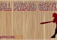 Softball Certificate Template FREE by Paddle
