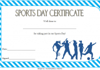 Sports Day Certificate Template 1