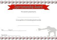Sportsmanship Certificate Template 1
