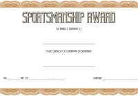 Sportsmanship Certificate Template 2