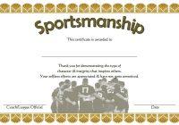 Sportsmanship Certificate Template 3