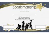 Sportsmanship Certificate Template 4