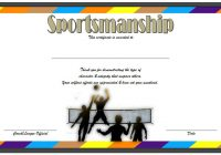 Sportsmanship Certificate Template 5