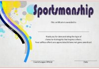Sportsmanship Certificate Template 6