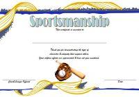 Sportsmanship Certificate Template 7