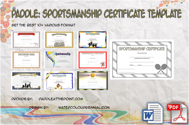 Permalink to Sportsmanship Certificate Template – 10+ Great Ideas FREE