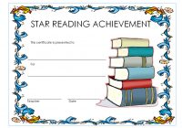 Star Reading Award Certificate 1