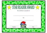 Star Reading Award Certificate 2