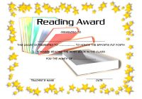 Star Reading Award Certificate 3