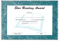 Star Reading Award Certificate 4