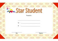 Star Student Certificate Template 3