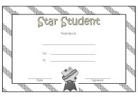 Star Student Certificate Template 5