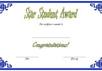 Star Student Certificate Template 7