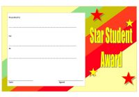 Star Student Certificate Template 9