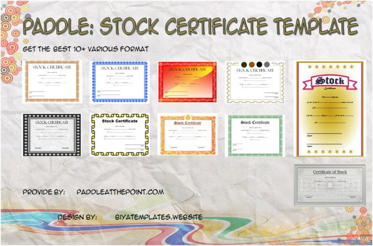 Permalink to Editable Stock Certificate Template – 10+ Best Ideas FREE