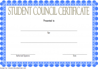 Student Council Certificate Template 1