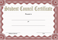 Student Council Certificate Template 2