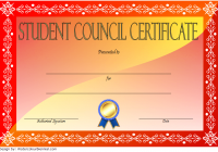 Student Council Certificate Template 3