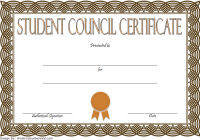 Student Council Certificate Template 4