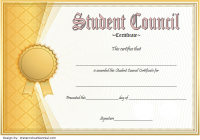 Student Council Certificate Template 5