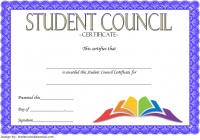 Student Council Certificate Template 7
