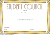 Student Council Certificate Template 8