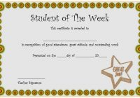 Student of The Week Template 5