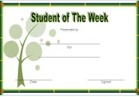 Student of The Week Template 6