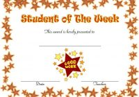 Student of The Week Template 8