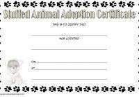 Stuffed Animal Adoption Certificate Template 1