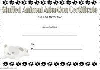 Stuffed Animal Adoption Certificate Template 2