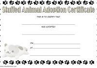 Stuffed Animal Adoption Certificate Template 2
