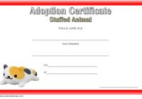 Stuffed Animal Adoption Certificate Template 6