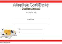 Stuffed Animal Adoption Certificate Template 6