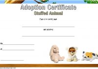 Stuffed Animal Adoption Certificate Template 7