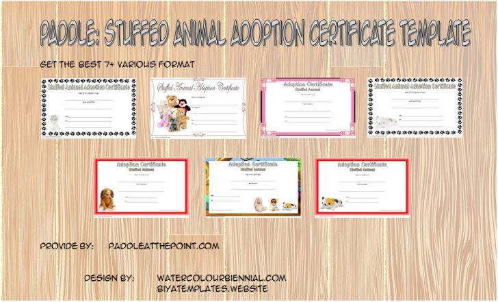 Permalink to Stuffed Animal Adoption Certificate Template Free