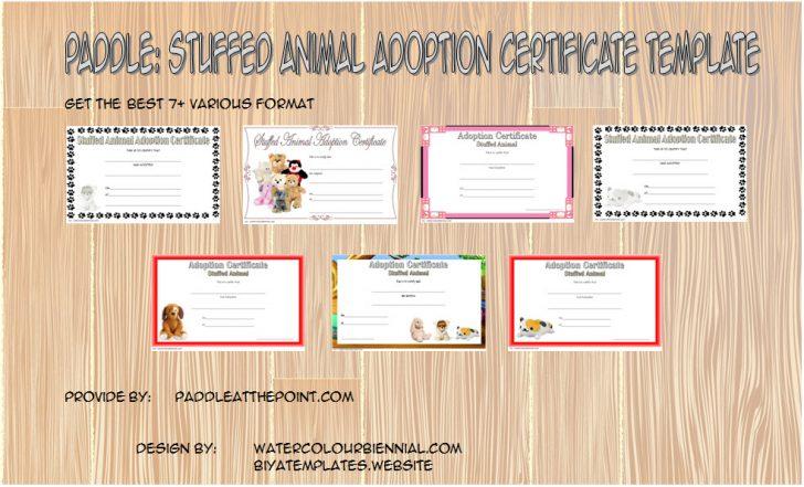 Permalink to Best Stuffed Animal Adoption Certificate Template FREE: 2020 Ideas