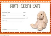 Stuffed Animal Birth Certificate Template 3