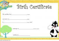 Stuffed Animal Birth Certificate Template 5
