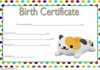 Stuffed Animal Birth Certificate Template 7