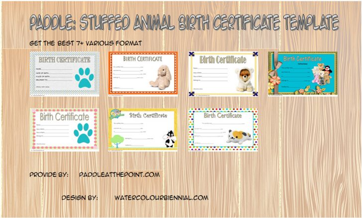 Permalink to Best Stuffed Animal Birth Certificate Template: The 7+ Amazing Designs