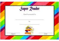 Super Reader Certificate Template 1