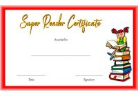 Super Reader Certificate Template 3