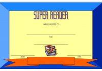 Super Reader Certificate Template