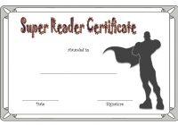 Super Reader Certificate Template 4