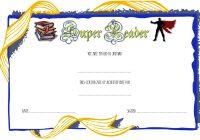 Super Reader Certificate Template 6